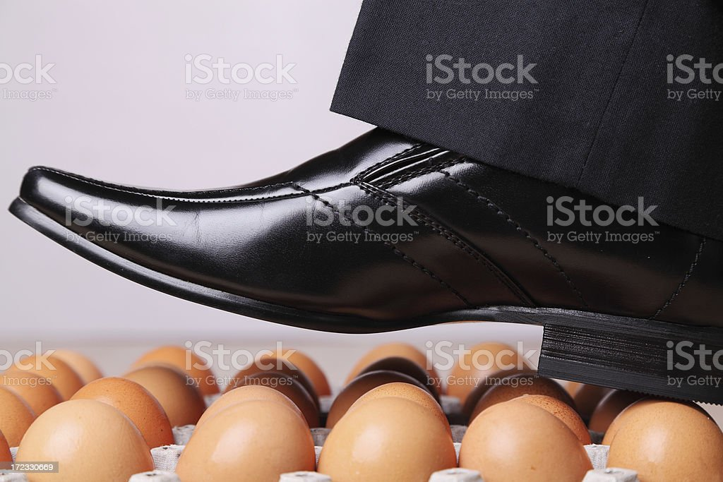 Walking on Eggs royalty-free stock photo