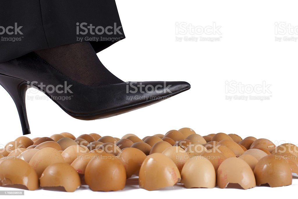Image result for walking on eggshells