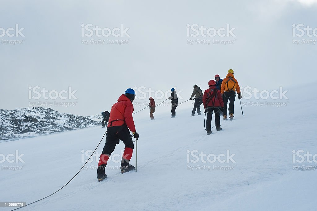 Walking on ice royalty-free stock photo