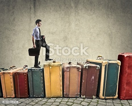 istock Walking on luggages 675278928