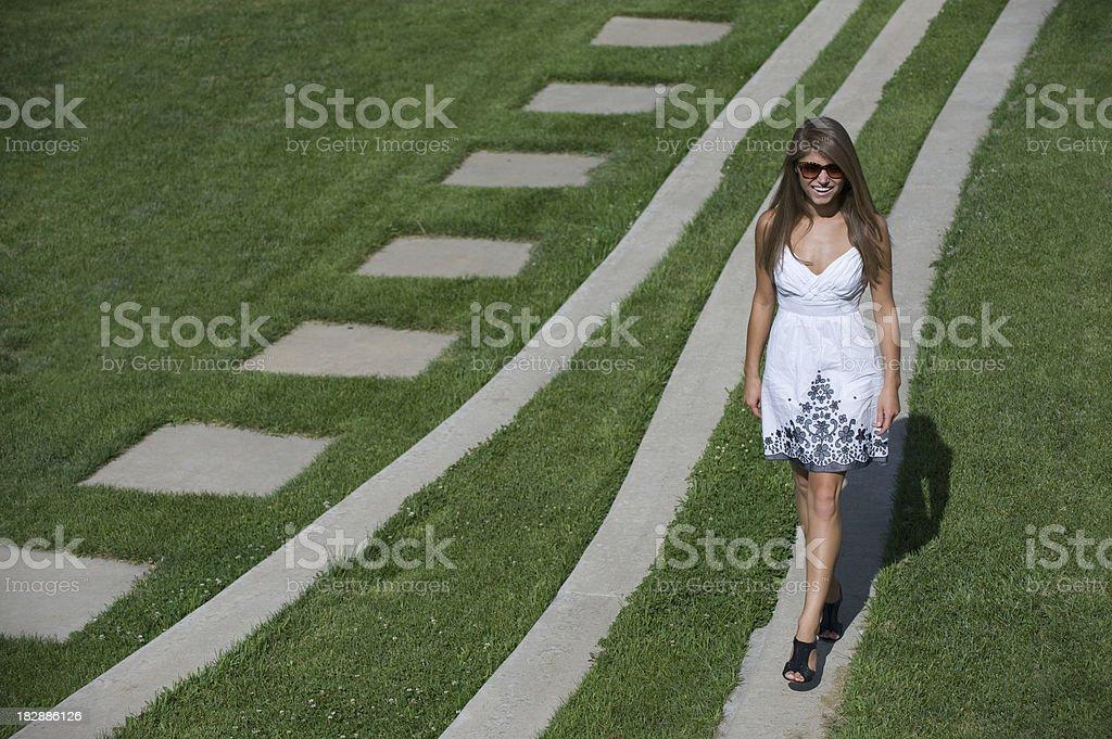 Walking on Path stock photo