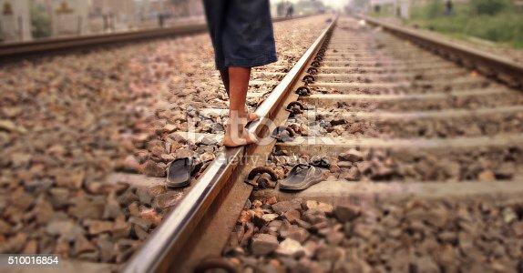istock Walking On Railway 510016854