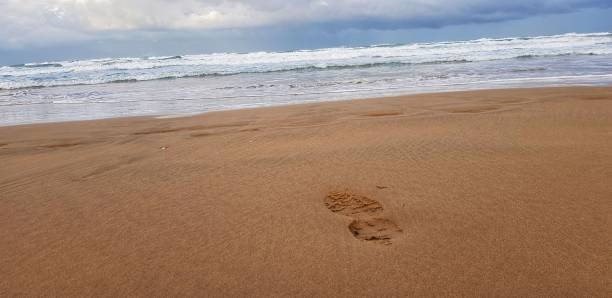 Caminatas en la playa - foto de stock