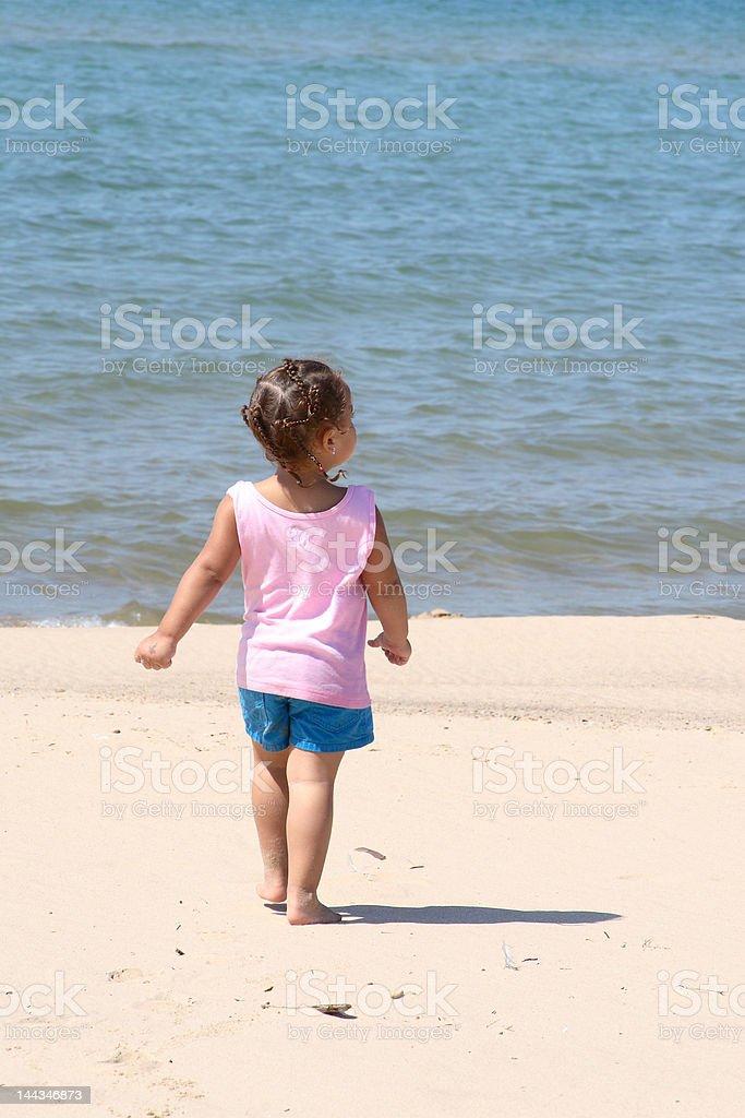 walking on the beach royalty-free stock photo