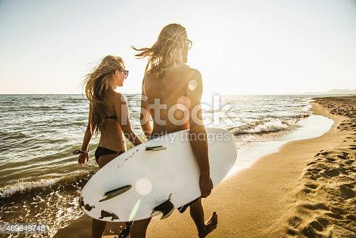 istock Walking on the beach 469649748
