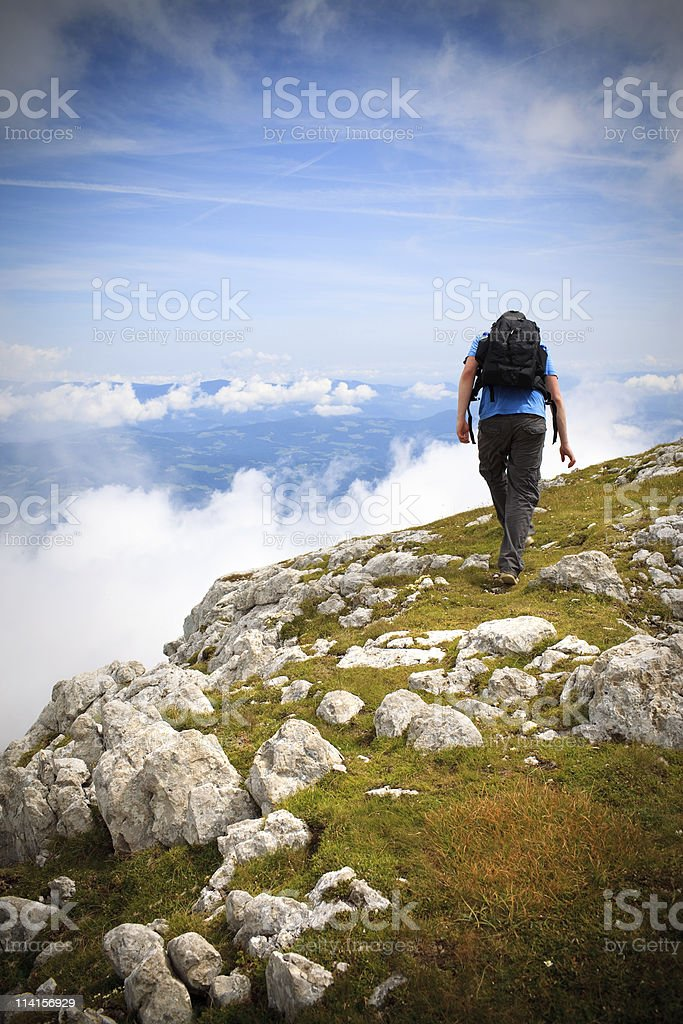 Walking On The Edge royalty-free stock photo