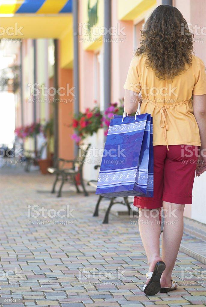 Walking on the market royalty-free stock photo