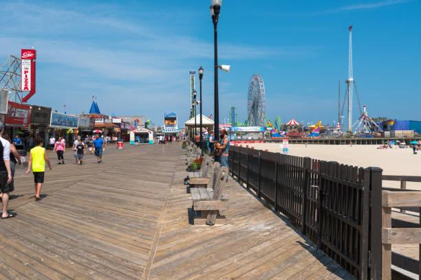 Fuß auf der Seaside Heights Promenade – Foto