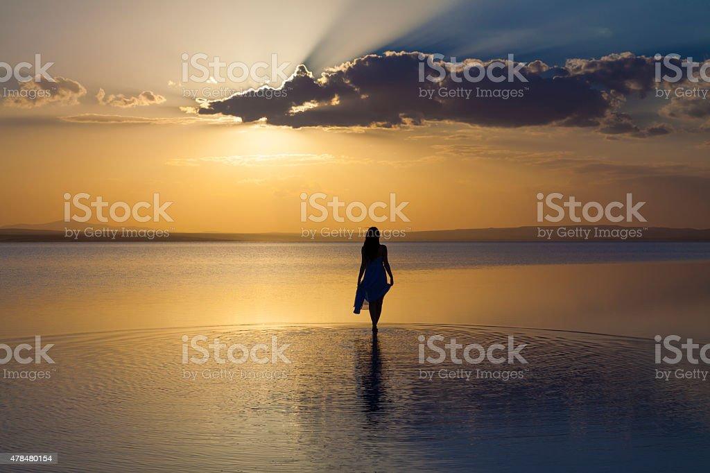 Walking on water Lizenzfreies stock-foto