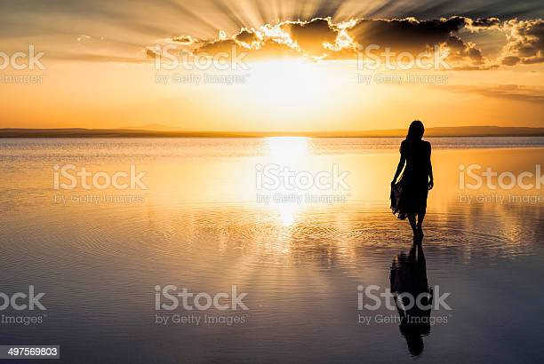 Walking On Water Stock Photo - Download Image Now
