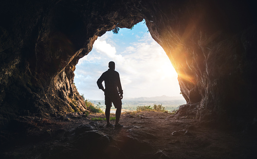 Walking out of the cave