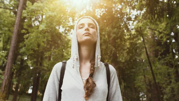Wandern im Freien und Achtsamkeit – Foto