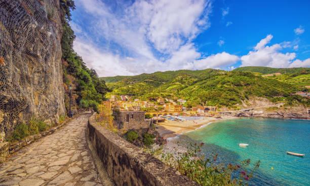 Walking path to Monterosso al Mar stock photo