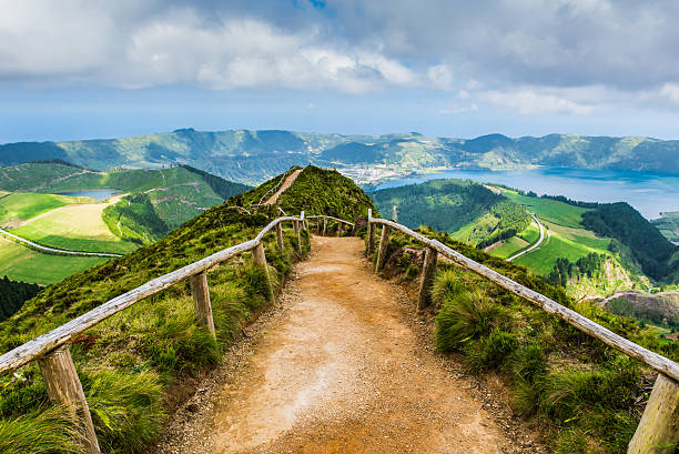 Fußweg zu den Seen von Sete Cidades, Azoren), Portugal – Foto