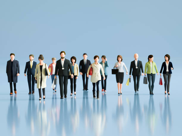 Walking people Walking people people in a row stock pictures, royalty-free photos & images