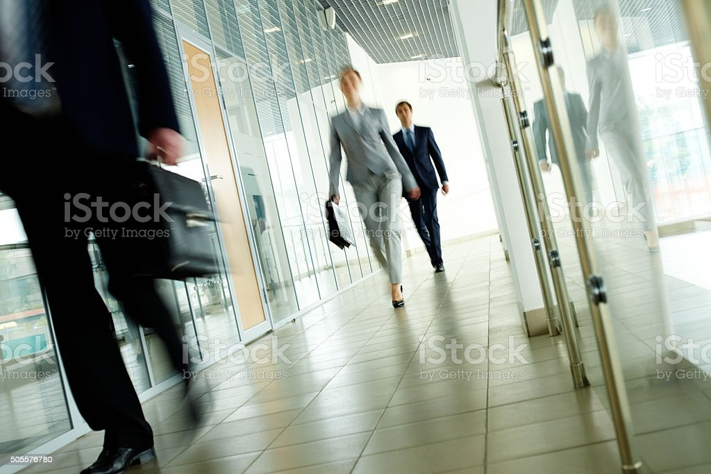 Walking people stock photo