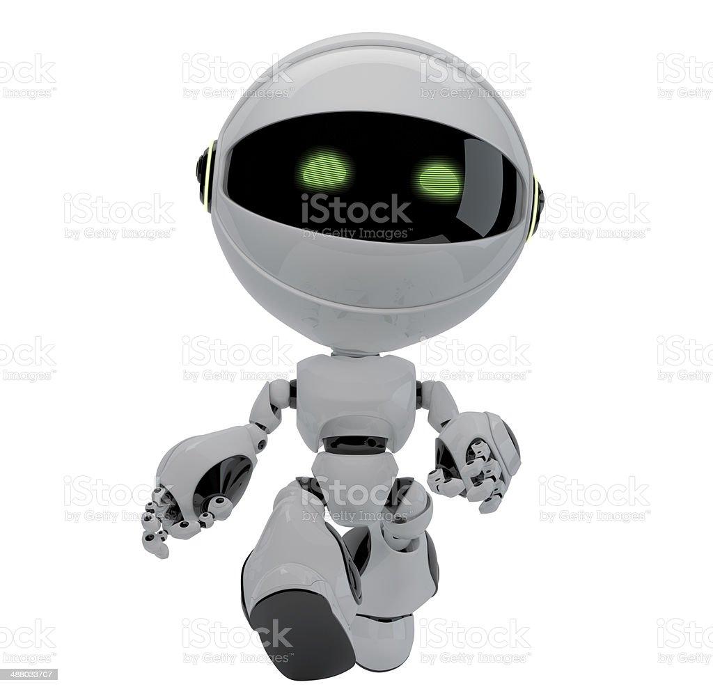 Walking robot stock photo