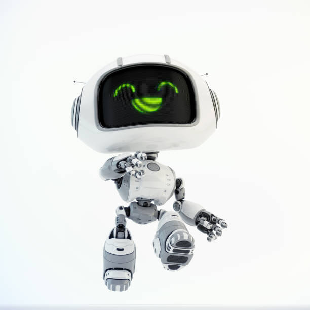 Walking robot toy stock photo