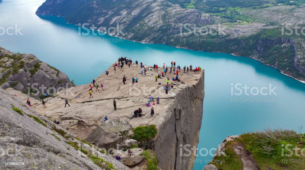 walking routes, exploration and activities of tourists, mountaineers and travelers stock photo