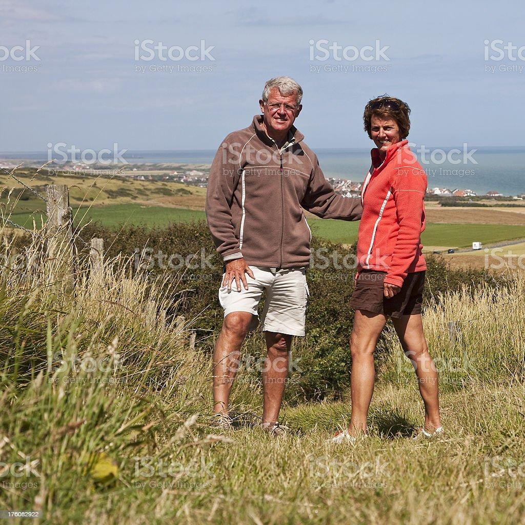 Walking seniors # 2 royalty-free stock photo