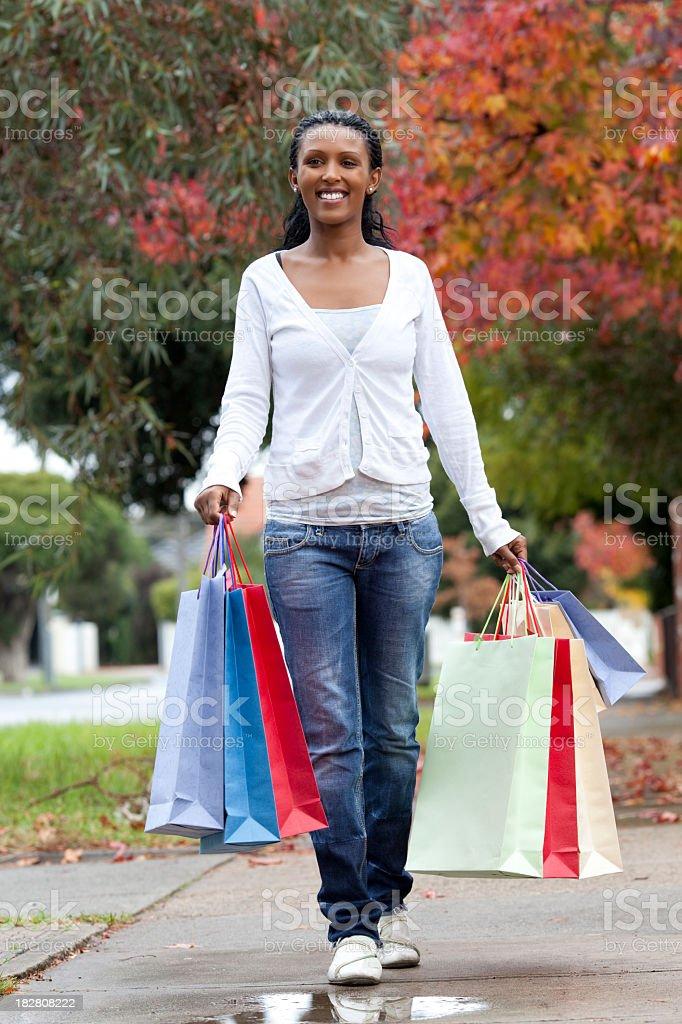 Walking shopping. royalty-free stock photo