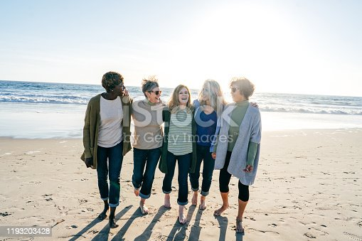 Support walking group for women in their 60s