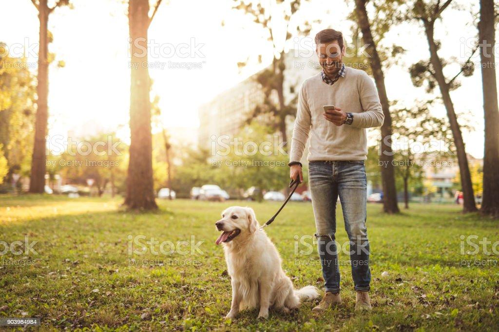 Spaziergänge mit dem Hund – Foto