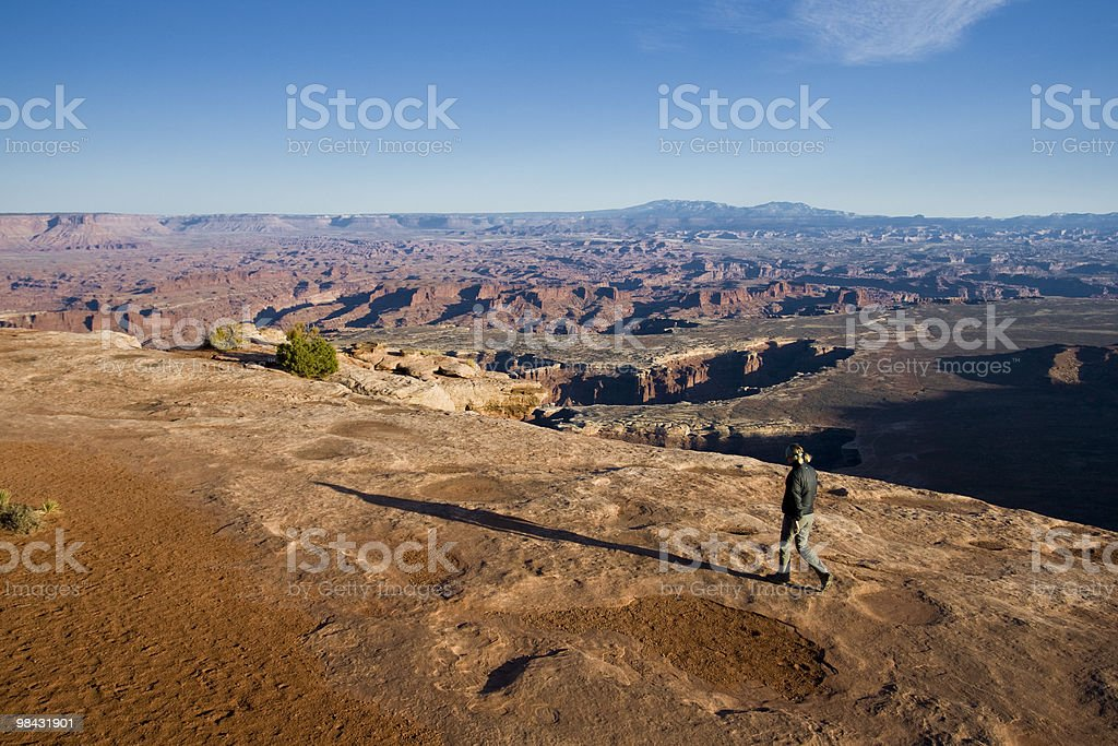 Walking The Rim royalty-free stock photo