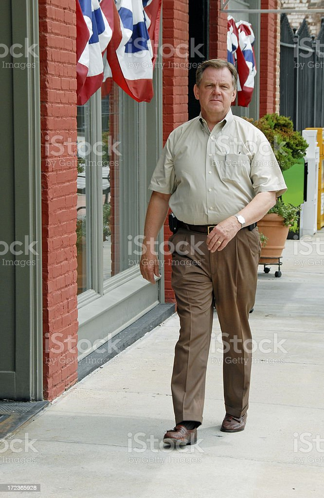 Walking the Streets of America royalty-free stock photo