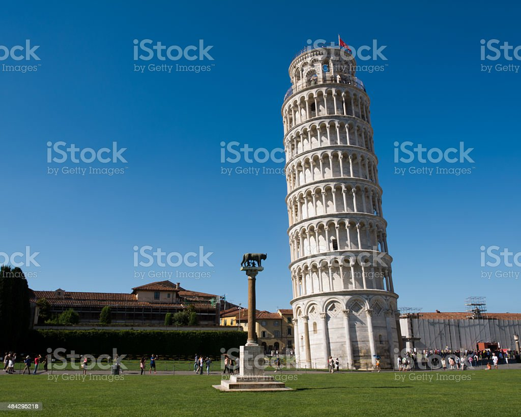 walking the streets of Pisa stock photo