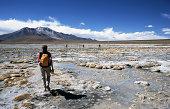 Walking throug a salt lake in the Atacama desert. ChileMore images of same photographer in lightbox:
