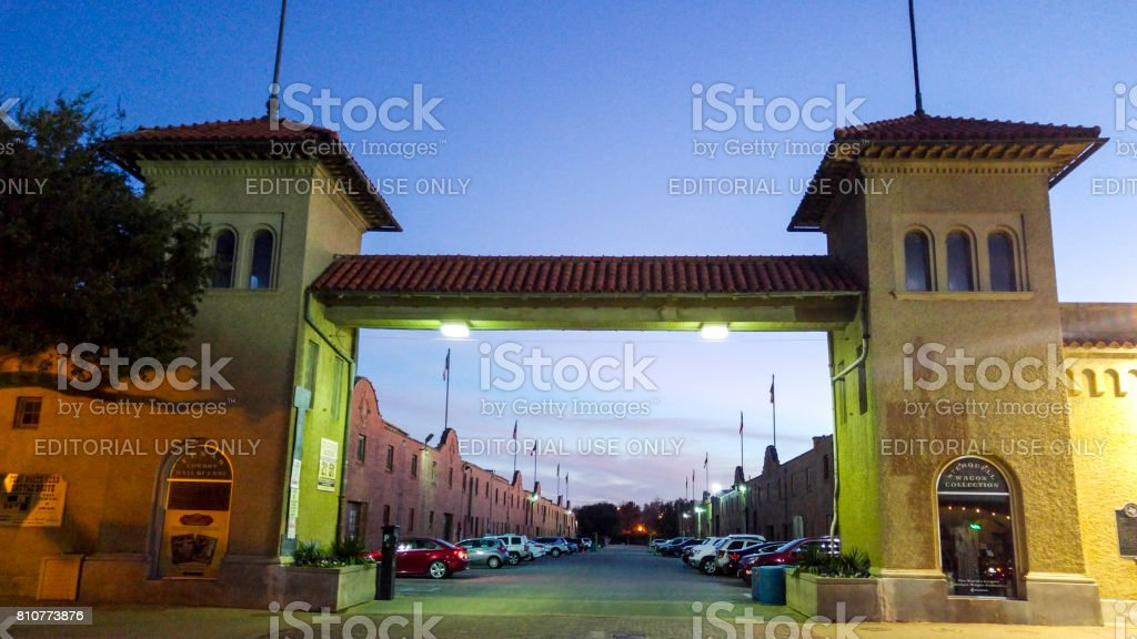 Walking through Fort Worth Texas stock photo