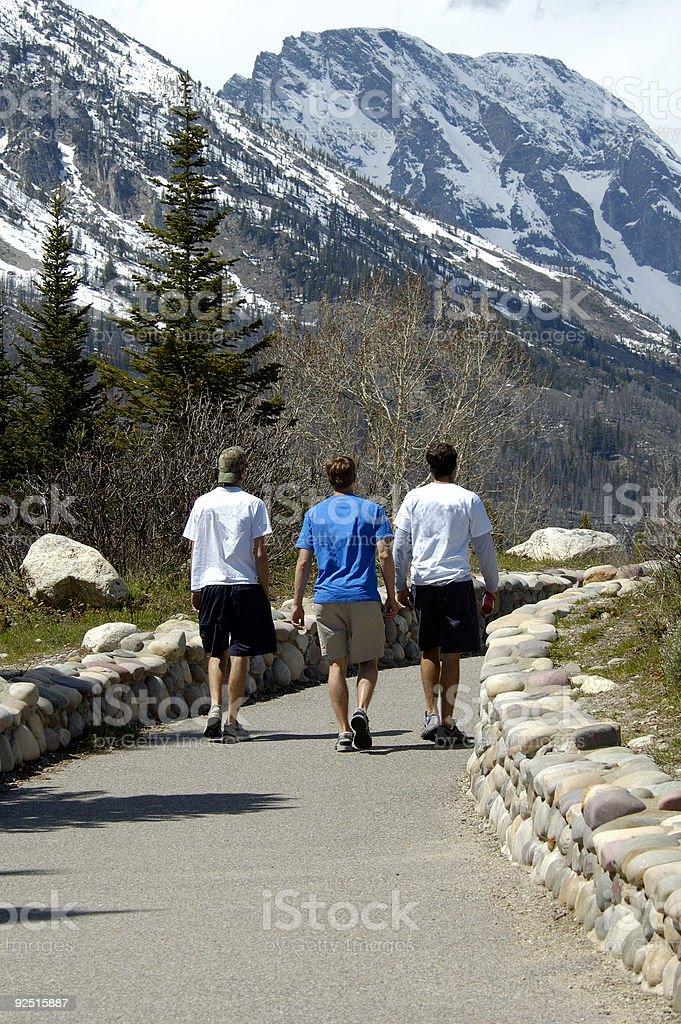 Walking Through Teton National Park royalty-free stock photo