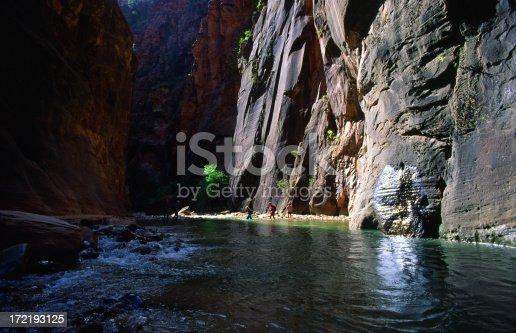 The Virgin River in Zion National Park, Utah.