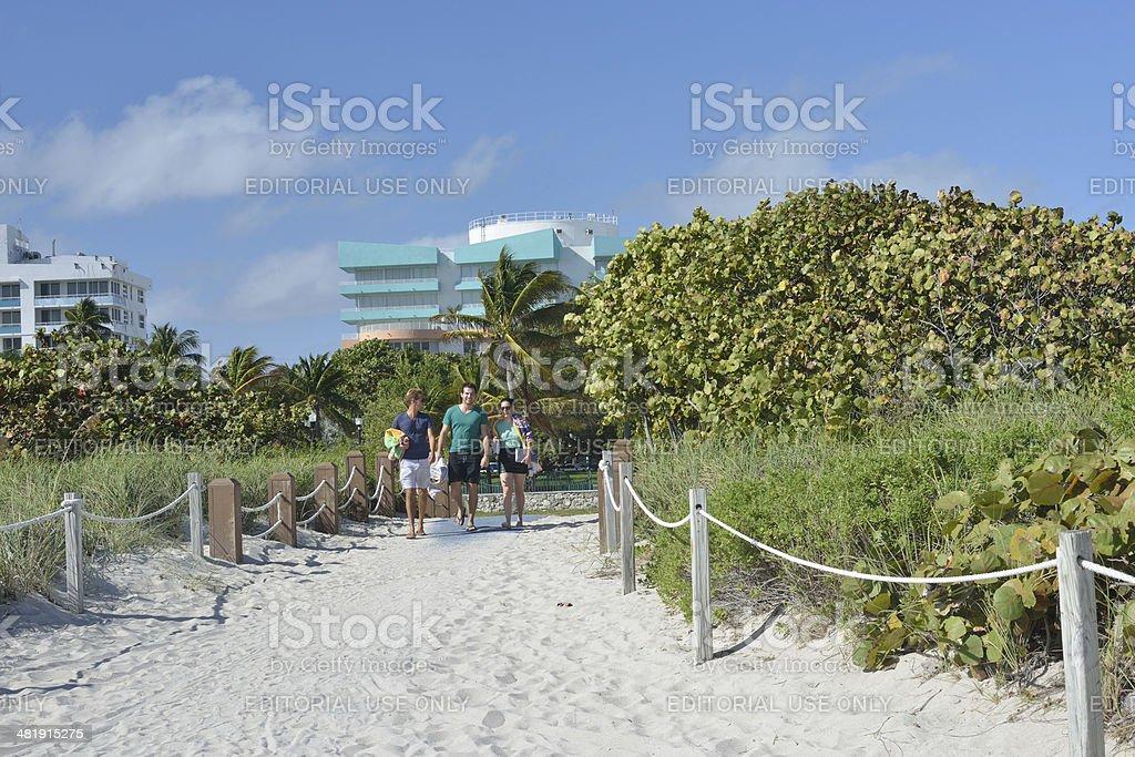 Walking to Beach royalty-free stock photo