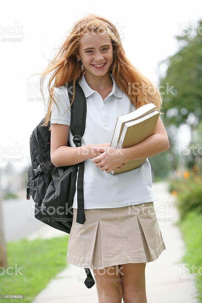 Walking to school. royalty-free stock photo