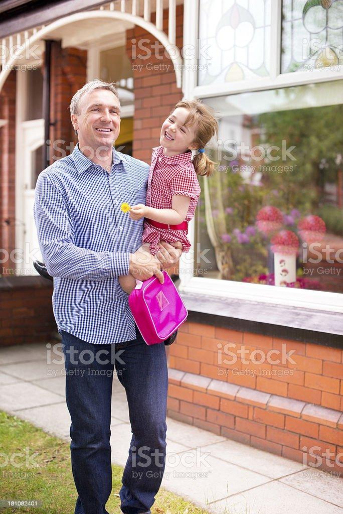 walking to school royalty-free stock photo