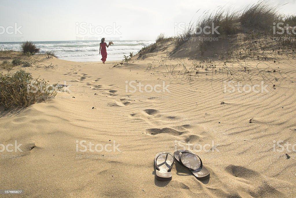 Fuß zum Meer – Foto