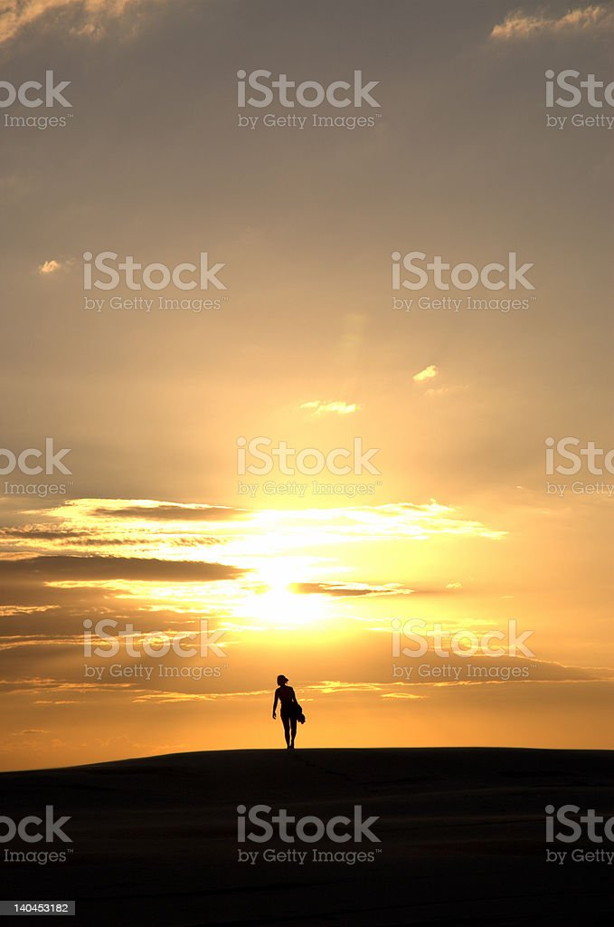 walking to the sun royalty-free stock photo