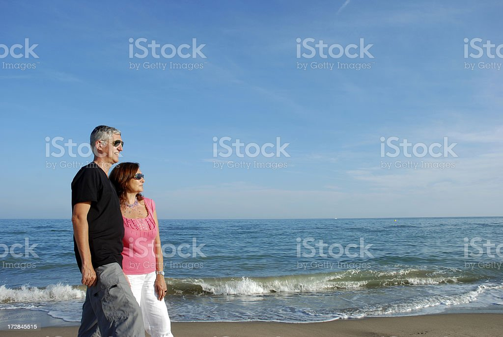 Walking together stock photo