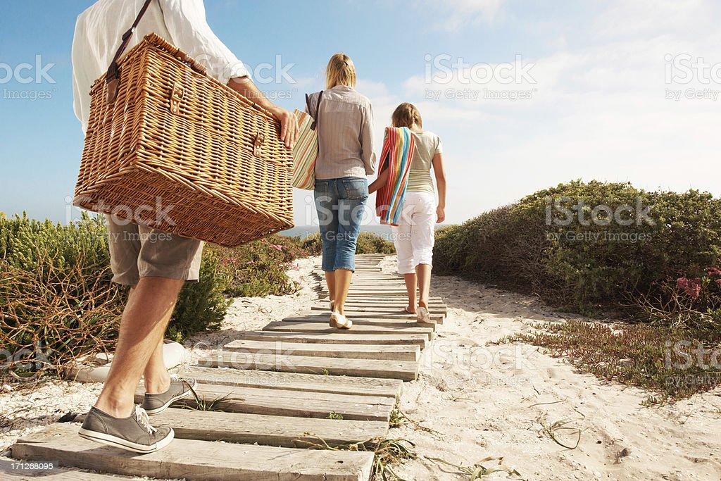 Walking towards a great picnic spot stock photo