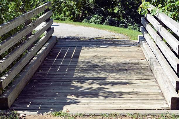 Walking Trail Bridge stock photo