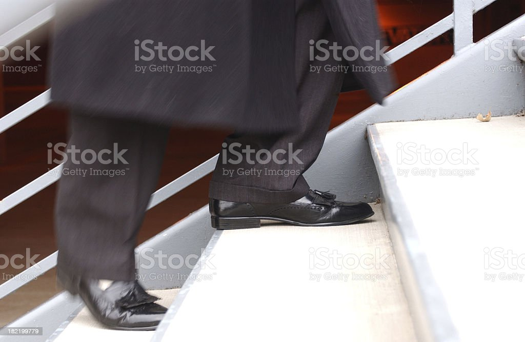 walking up stairs royalty-free stock photo