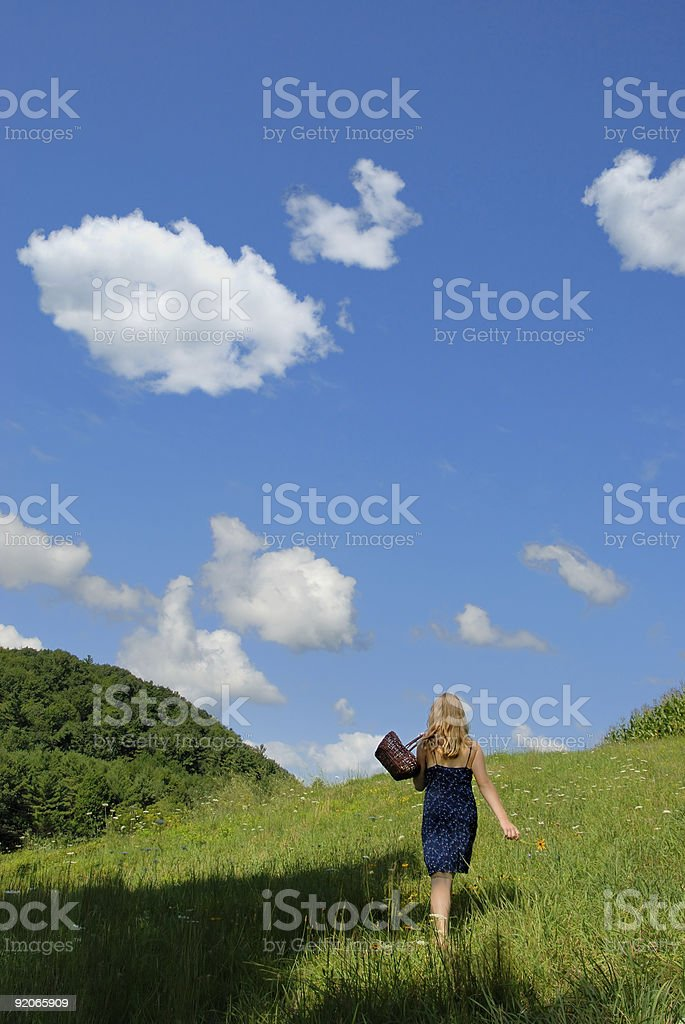 Walking with nature royalty-free stock photo