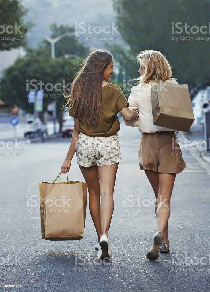 Walking with style stock photo