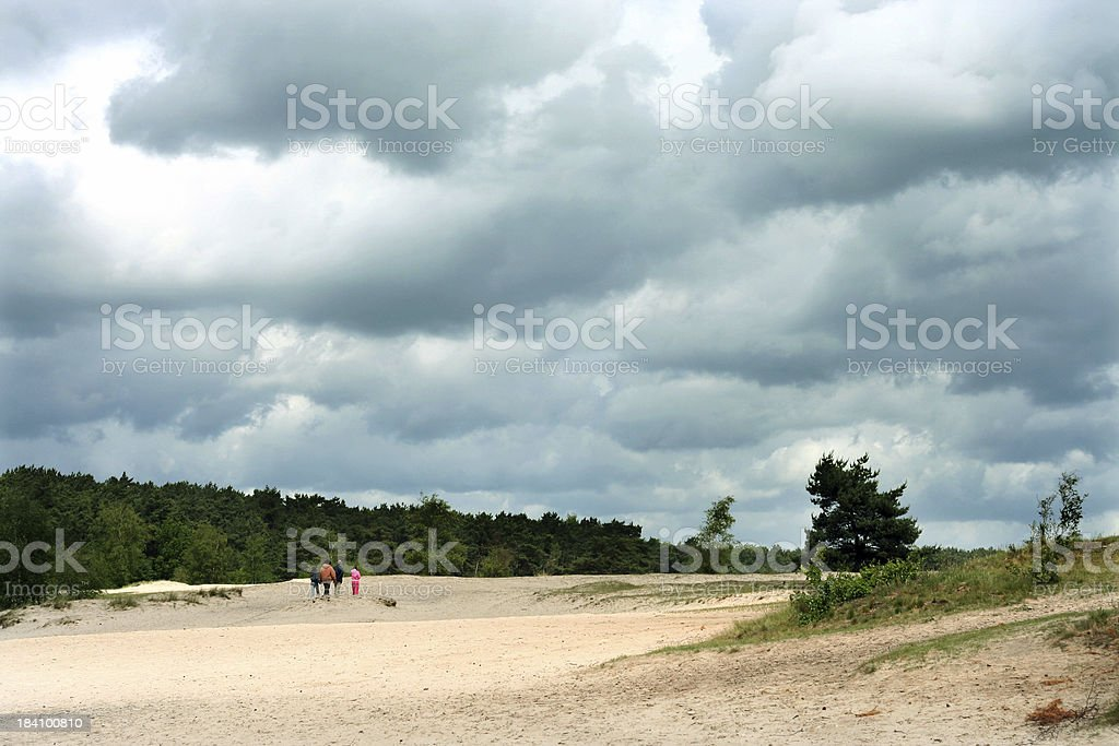 Walking with the Family royalty-free stock photo