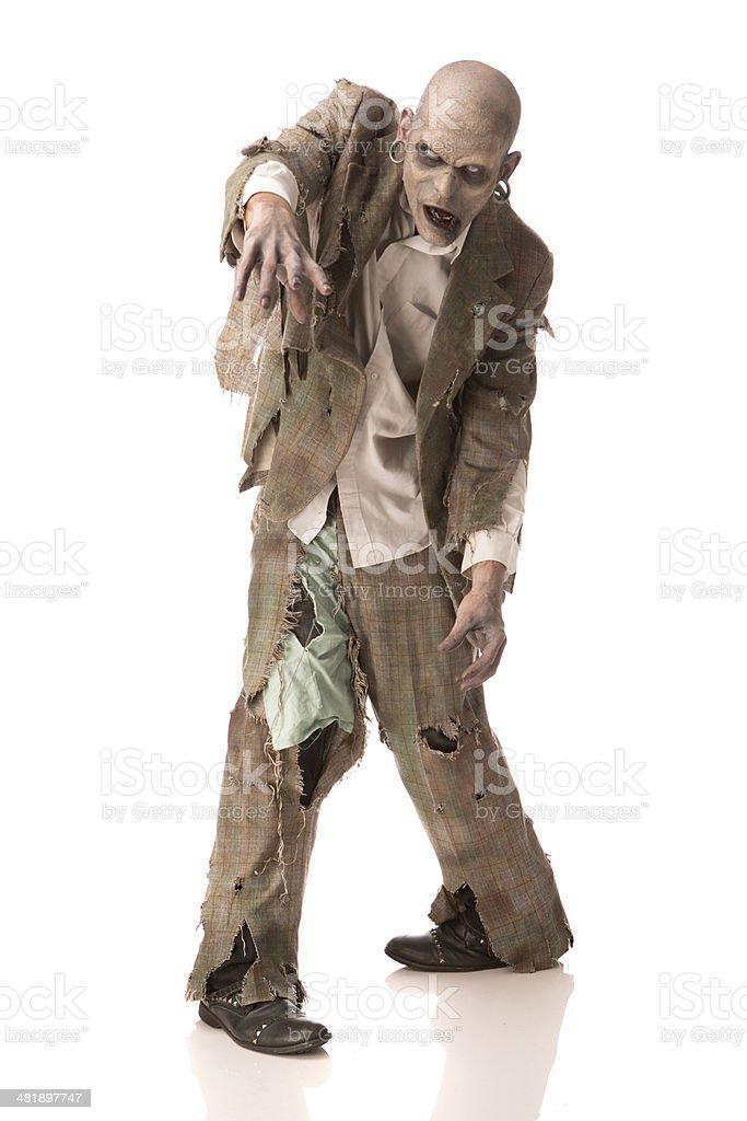 Walking Zombie stock photo
