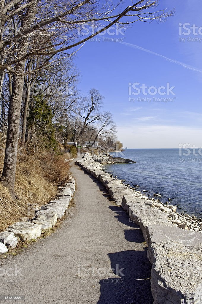 Walkway along Lake Ontario royalty-free stock photo