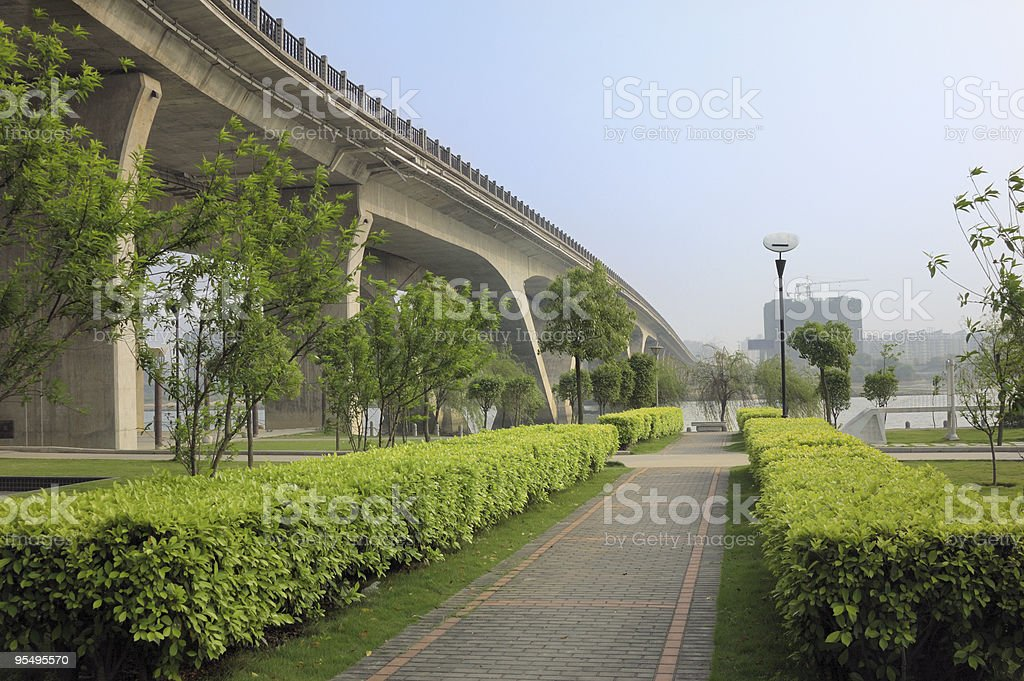 walkway and bridge royalty-free stock photo