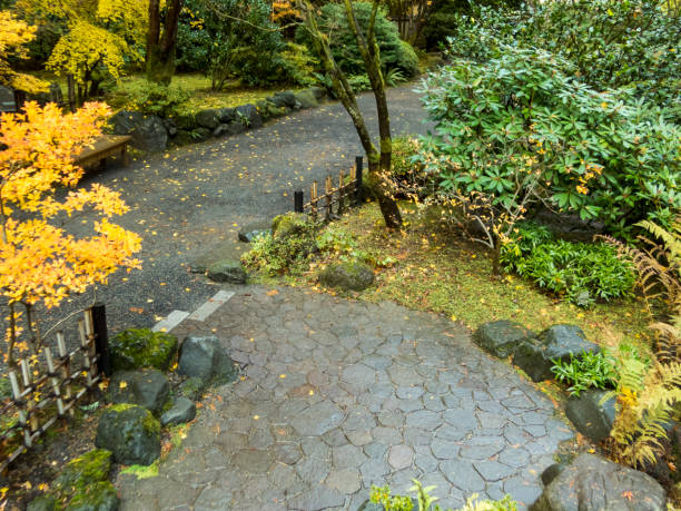 Royalty free portland oregon winter pictures images and - Portland japanese garden free day ...